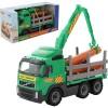 Камион с кран и дървени трупи - 9531