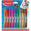 Лепило - Maped Color Peps Glitter Glue, 9 цвята х 10,5 мл
