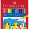 Флумастери Faber-Castell - 12 цвята