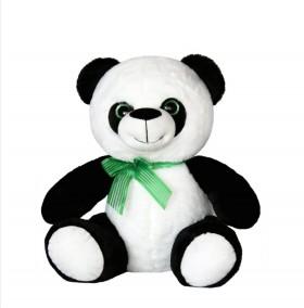 Панда със зелена панделка 48см