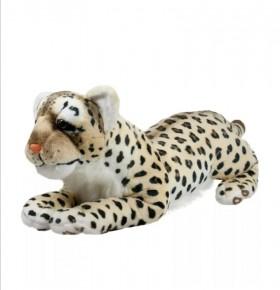 Плюшен легнал леопард 80см