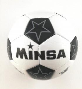 Футболна топка 5-ца /кожа/ звезди черна