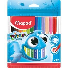 Арго Maped Флумастери Color'Peps Океан 12 цвята