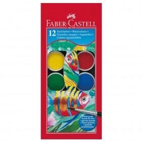 Faber Castell Водни бои 12 цвята + четка