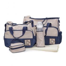 Комплект чанти за аксесоари Stella син