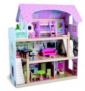 Дървена къща за кукли Mila 4110
