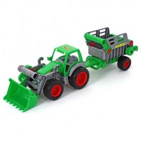 Polesie Toys - Трактор Farmer с Предно Гребло и ремарке - 46505