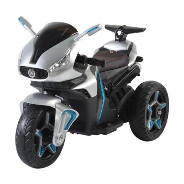 Акумулаторeн мотор Shadow с кожена седалка металик - 6688