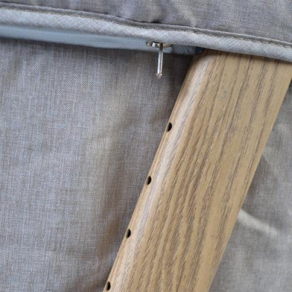 Бебешко легло с подвижна страница Shared Love с дървен принт