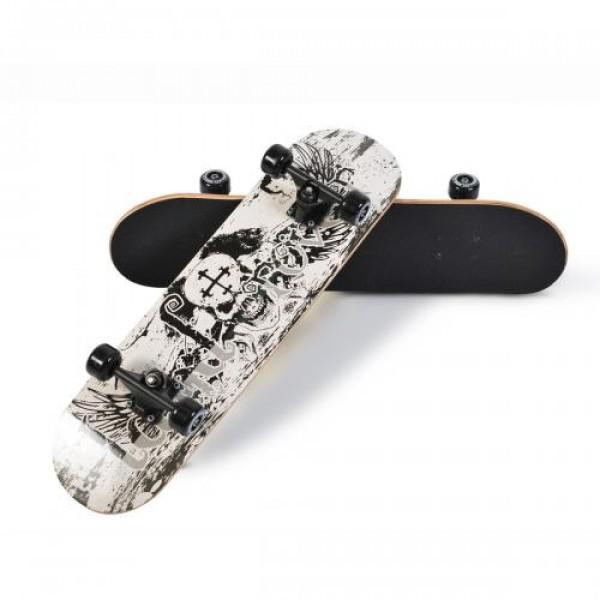 Скейтборд Lux - 3006 бял