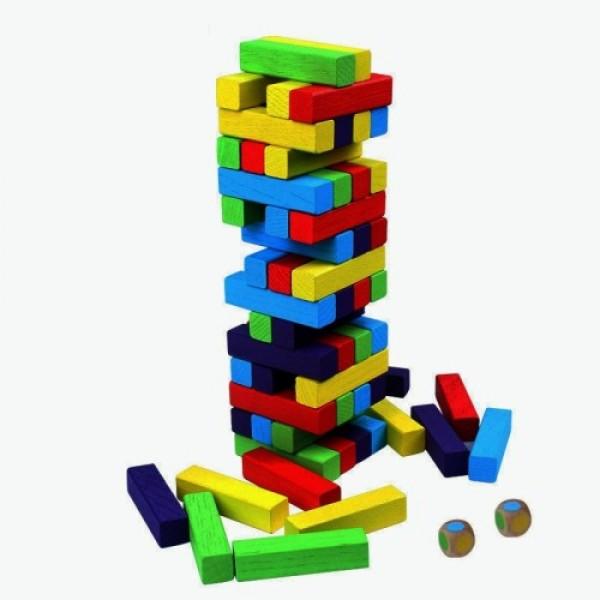 Дженгадайска кула 48 елемента, С цветни блокчета