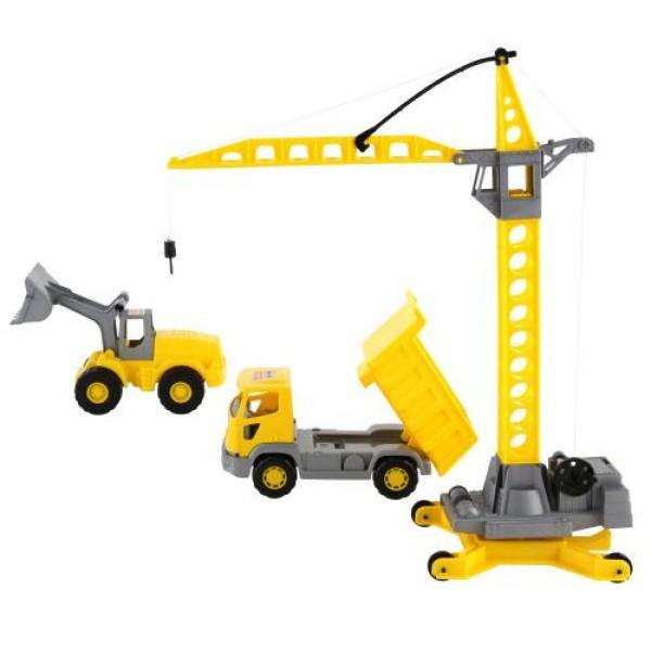 Кран, трактор и камион - 57150