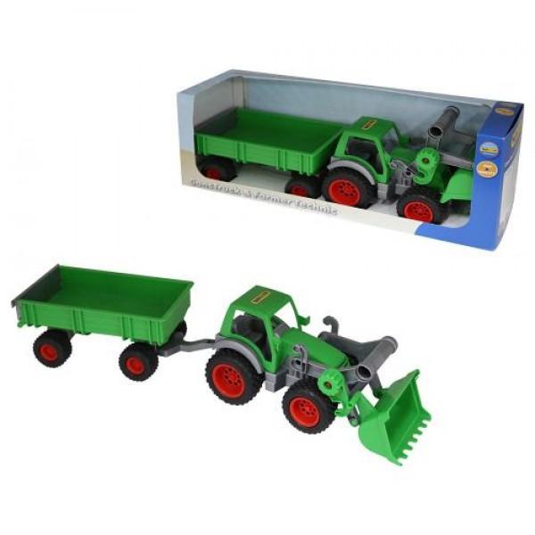 Трактор с гребло и ремарке - 37770