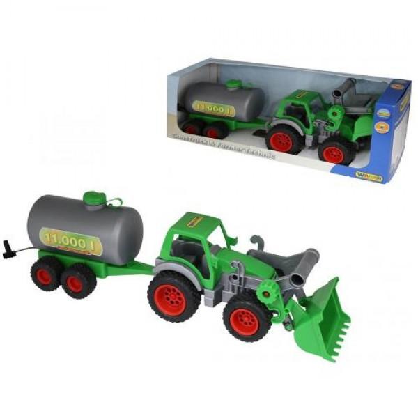Polesie toys Трактор Farmer с гребло и цистерна - 37763