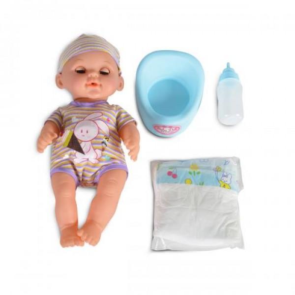 Кукла 31 см пишкаща с памперс - 8126