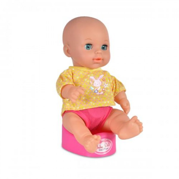 Кукла 31 см пишкаща с памперс и гърне - 8125