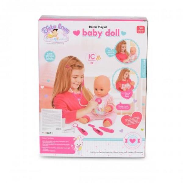 Кукла 36 см с докторски комплект - 8100