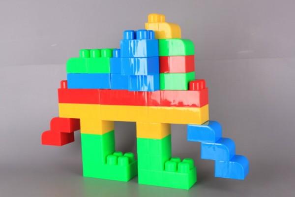 Cimbari, 20 части, конструктор MAXI BOCK с едри елементи