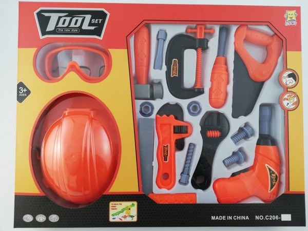 Комплект инструменти с каска