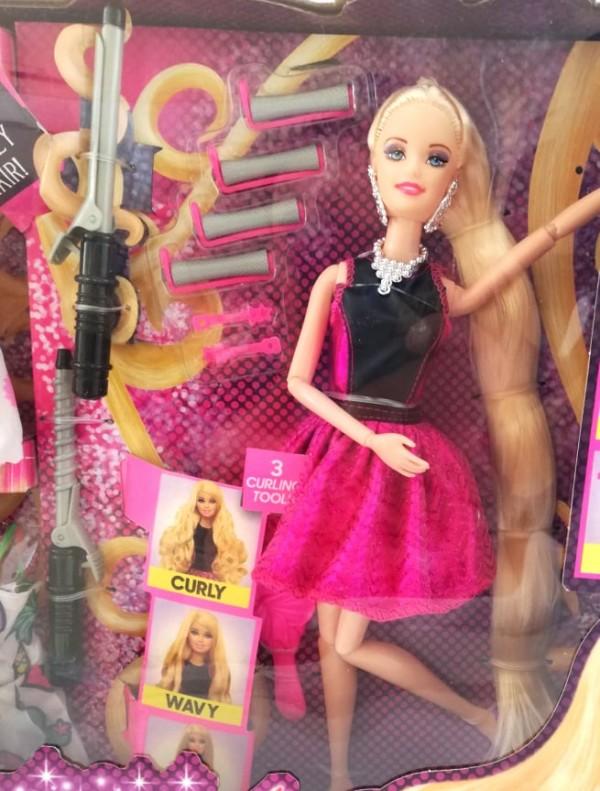 Кукла за прически с рокли