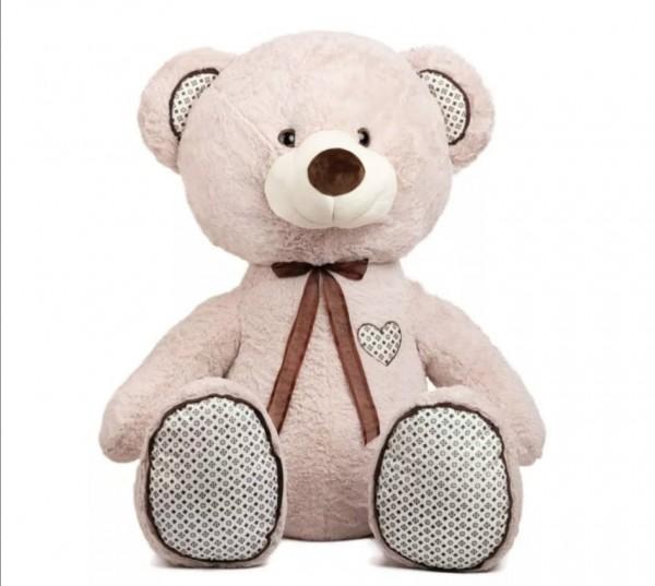 Плюшен мечок 150см с глитерни лапи и уши