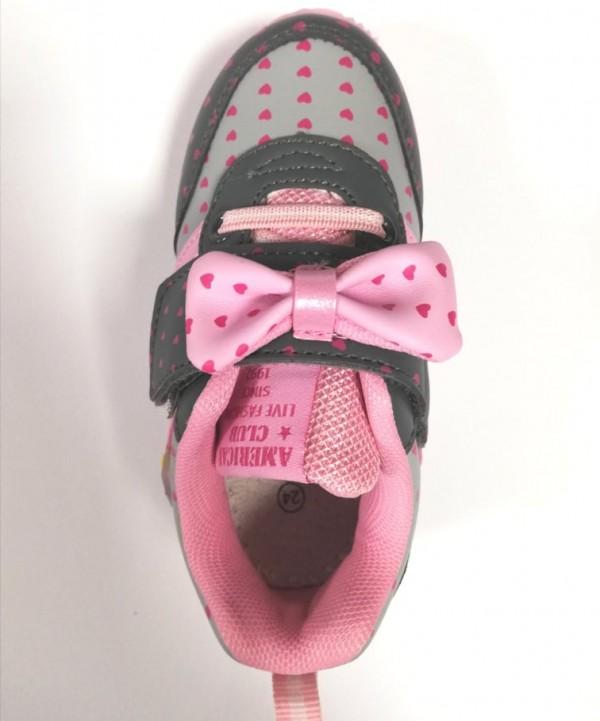 Маратонки за момиче grey/pink