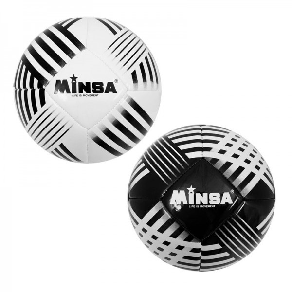 Футболна топка Minsa бяла/черна