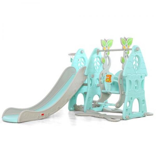 Пързалка с люлка Wonder син - 18009