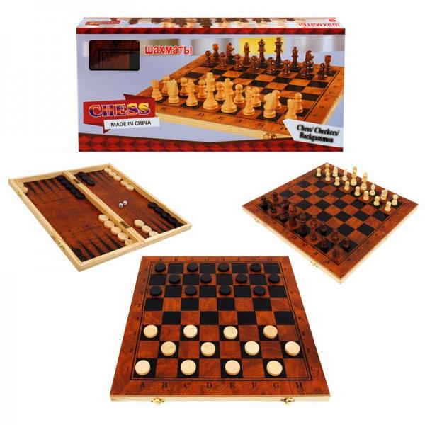 Игра 3 в 1 /шах, табла и дама/