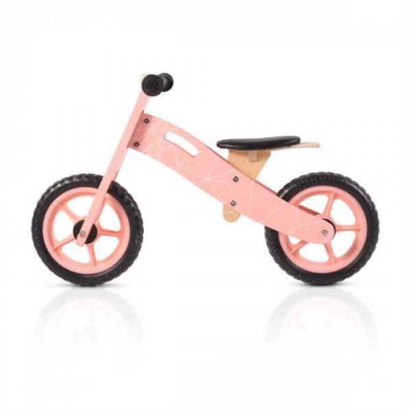 Дървен балансиращ велосипед розов - 5018