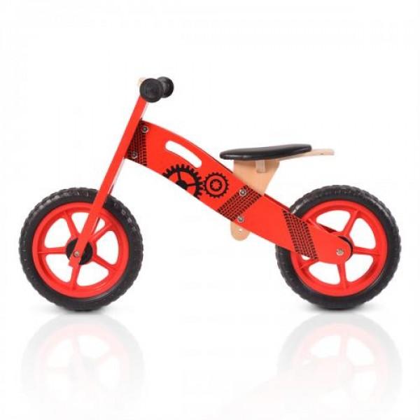 Дървен балансиращ велосипед червен - 5017