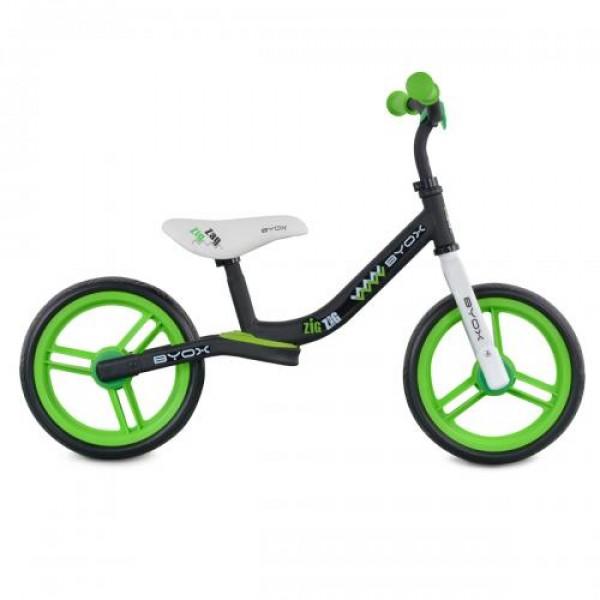 Детски балансиращ велосипед Zig-Zag зелен