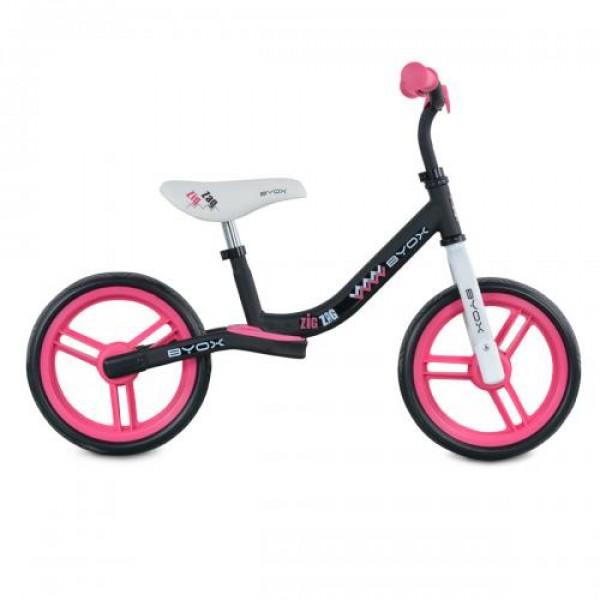 Детски балансиращ велосипед Zig-Zag розов