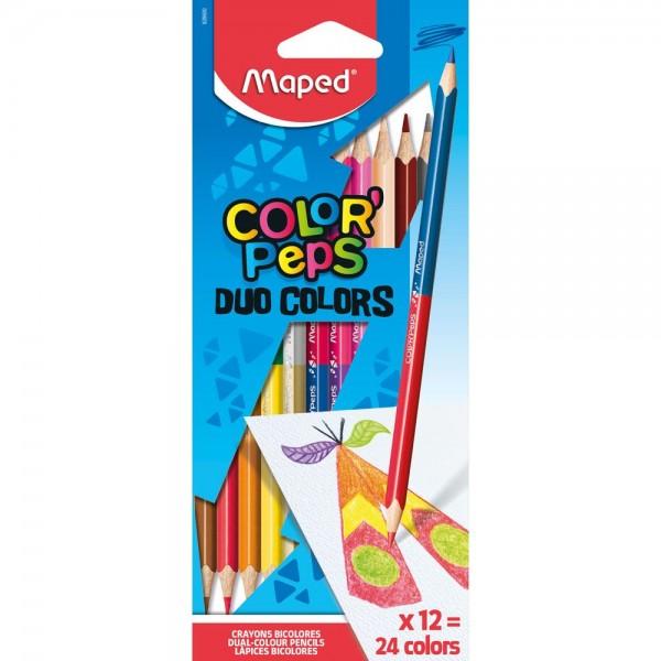 Арго Maped Цветни моливи Color'Peps Duo 12 бр., 24 цвята