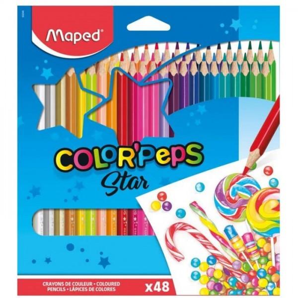 Цветни моливи Maped Color peps, 48 цвята