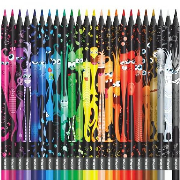 Арго Maped Color'Peps Monster Цветни моливи 24 цвята