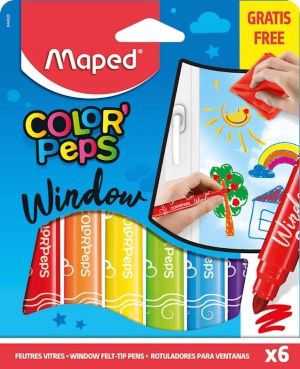 Maped Color'Peps писалка за оцветяване с филц за прозорци 6 цвята