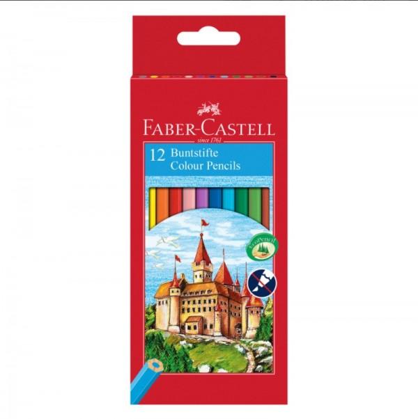 Faber-Castell Цветни моливи Замък, 12 цвята