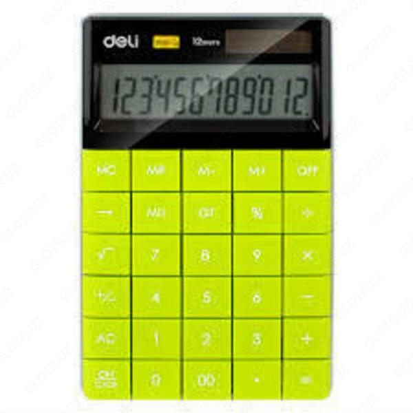 Калкулатор Deli Touch E1589 настолен зелен