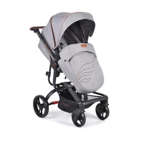 Комбинирана детска количка Ellada 3в1 сив