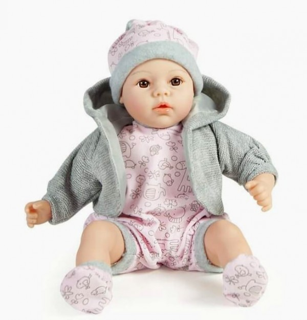 "Детска кукла ""РЕАЛНО БЕБЕ"" (43871) розов"