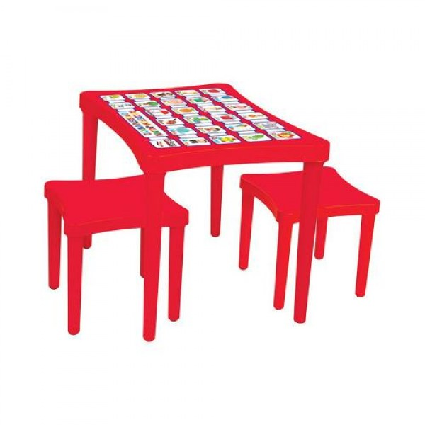 Маса с два стола - 03493 червена