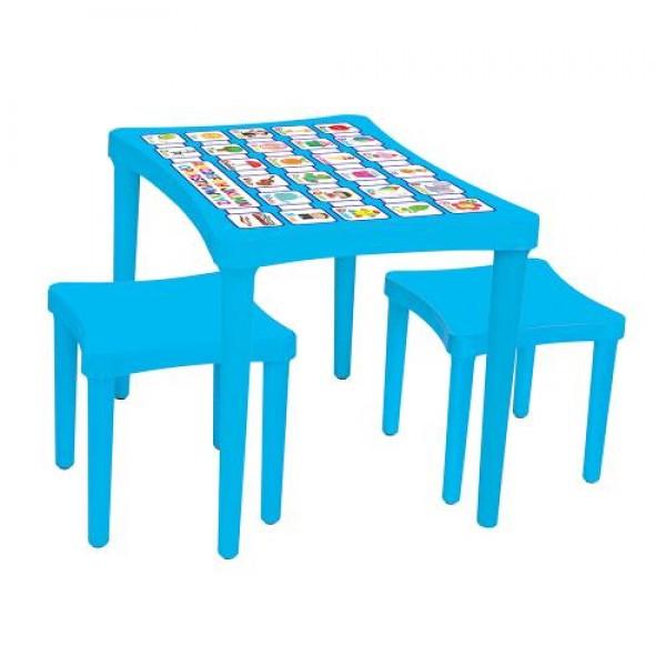Маса с два стола - 03493 синя
