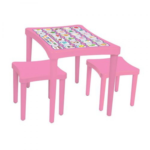 Маса с два стола - 03493 розова