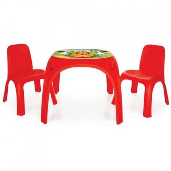 Маса King с 2 стола - 03422 червен