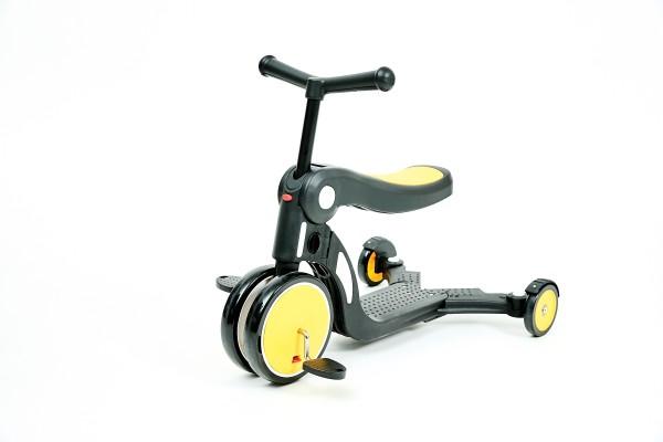 """Детска играчка скутер 4в1""""ALL RIDE"""" жълт"""