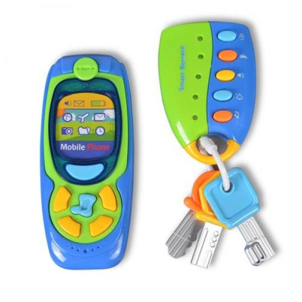 Комплект музикален телефон с ключодържател - K999-123B