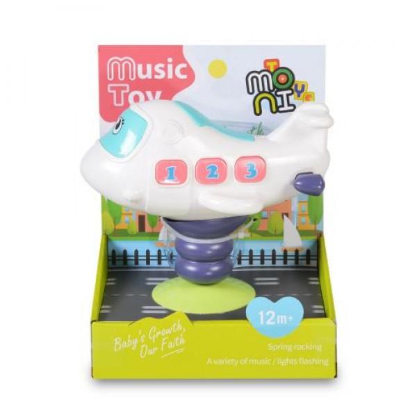 Бебешки музикален светещ самолет - K999-139B