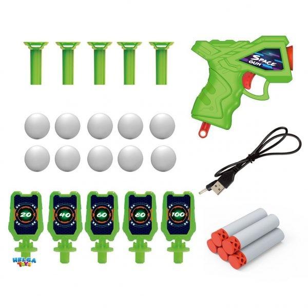 Детска игра с пистолет и плаващи мишени