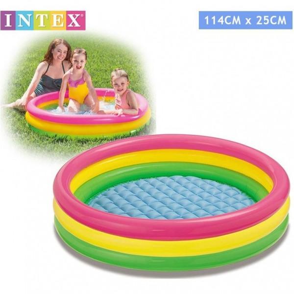 Intex - Детски надуваем басейн с надуваемо дъно 57412